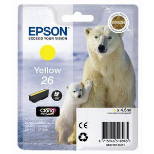 CARTOUCHE IMPRIMANTE Epson T2614 Ours polaire Cartouche d'encre Jaune