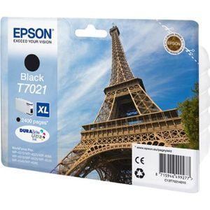CARTOUCHE IMPRIMANTE Epson T7021 XL  Tour Eiffel Cartouche d'encre Noir