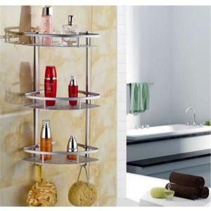 PORTE ACCESSOIRE Étagère de douche en aluminium 3 niveaux