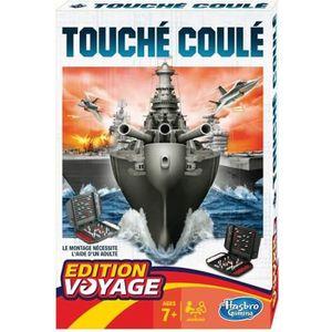 JEU SOCIÉTÉ - PLATEAU Touché-Coulé - Jeu de société de Voyage - Version