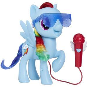 FIGURINE - PERSONNAGE MY LITTLE PONY - Rainbow Dash Chantante - Figurine