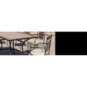 Salon de jardin mosaïque table rectangulaire Atrium Vigo ...