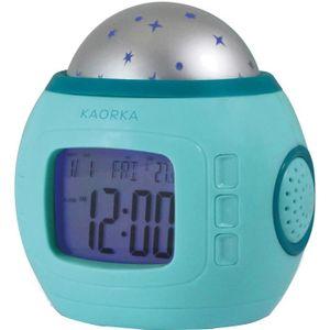 HU Projecteur enfant etoile LED reveil horloge Alarm LCD lumineuse sons nature T