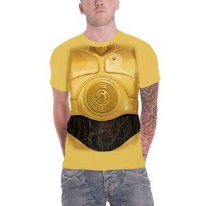 T-SHIRT Star Wars T Shirt C-3PO Droid Chest costume nouvea