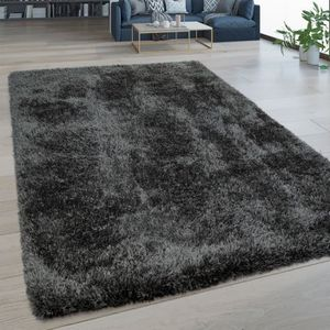 TAPIS Tapis Salon Poils Longs Lavable Shaggy Aspect Flok