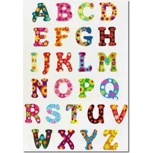 Gommettes alphabet de 1,5 à 2,5 cm x 73 pièces MegaCrea DIY