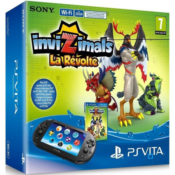 Console PS Vita+Coupon Jeu Invizimals+CM 8Go