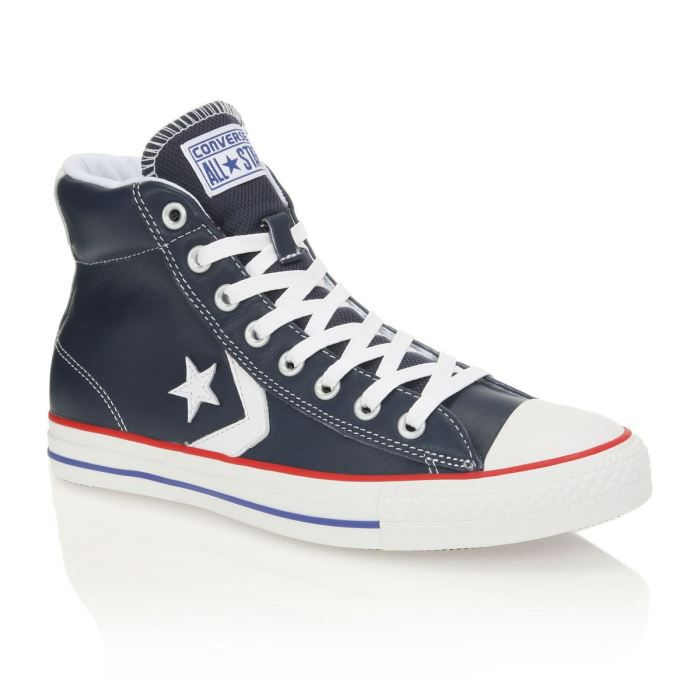 converse baskets star player lea mid homme homme bleu marine et blanc achat vente converse. Black Bedroom Furniture Sets. Home Design Ideas