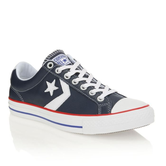 converse baskets star player lea core ox homme homme bleu marine et blanc achat vente. Black Bedroom Furniture Sets. Home Design Ideas