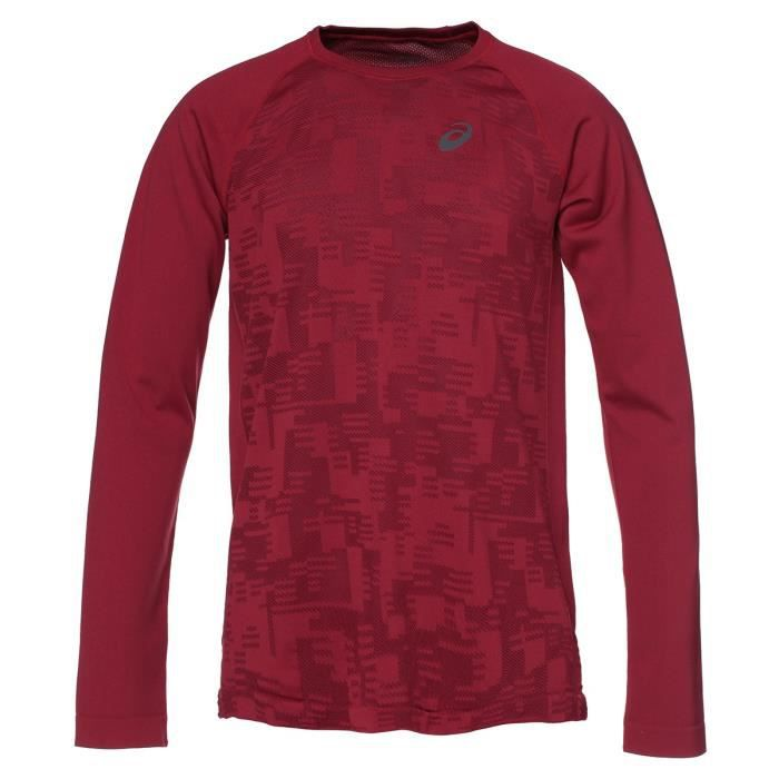 ASICS Seamless Tee-shirt manches longues Homme - Rouge