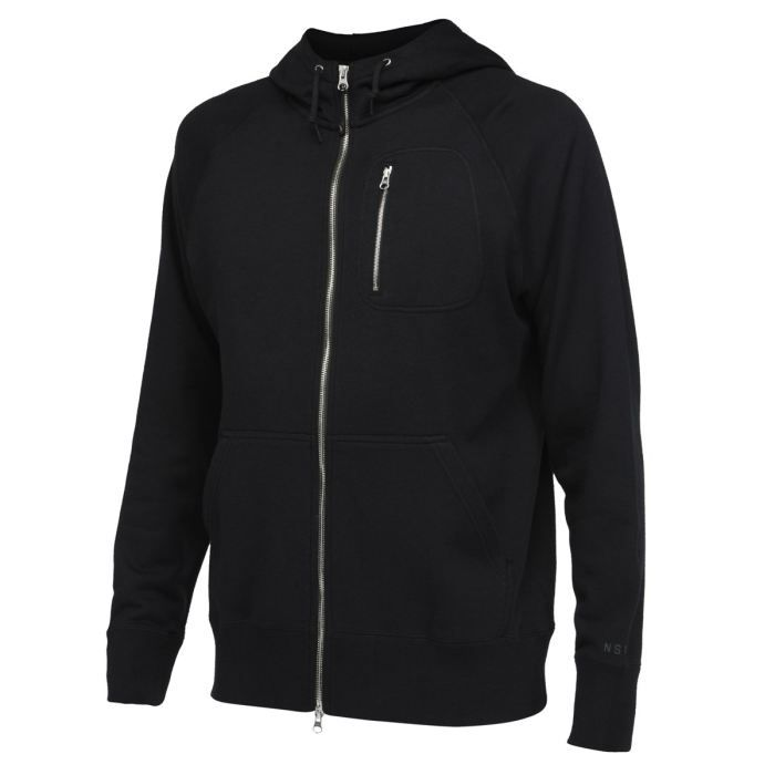 nike veste sweat zipp e capuche homme noir achat vente sweatshirt cdiscount. Black Bedroom Furniture Sets. Home Design Ideas