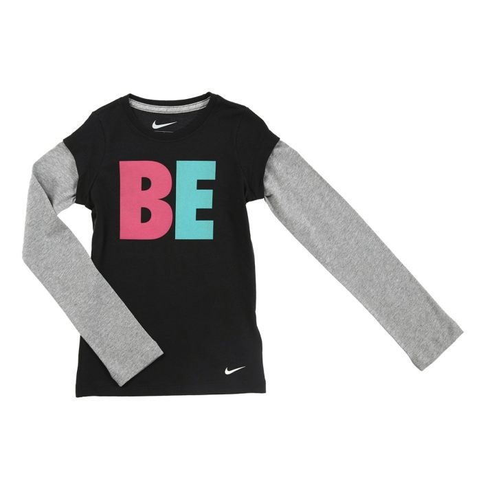 nike t shirt enfant fille noir et gris achat vente t shirt nike t shirt enfant fille cdiscount. Black Bedroom Furniture Sets. Home Design Ideas
