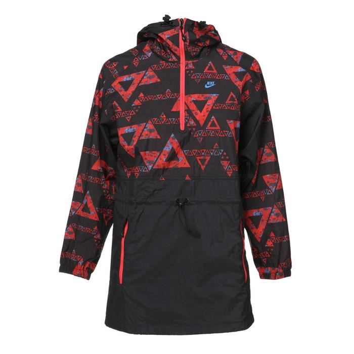 NIKE Veste TC Athletics West Cagoule - Femme - Noir et multicolore