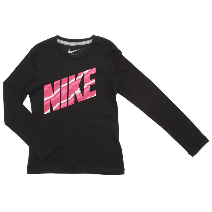 nike tee shirt fille noir rose et gris achat vente t shirt cdiscount. Black Bedroom Furniture Sets. Home Design Ideas
