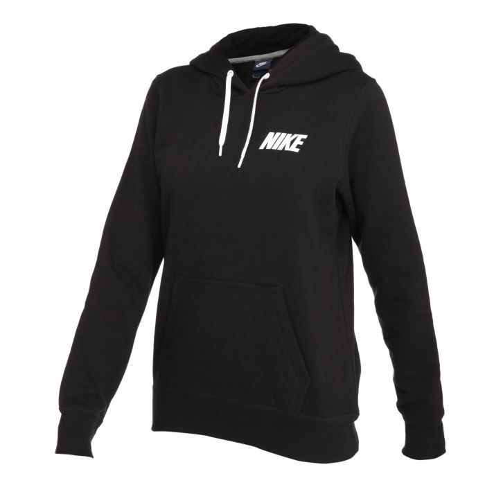 nike sweat capuche capuche femme noir achat vente sweatshirt soldes d hiver d s le 6. Black Bedroom Furniture Sets. Home Design Ideas