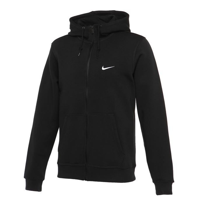 52ae00c2be0 NIKE Sweat Zippé Club Homme Noir - Achat   Vente sweat-shirt de ...
