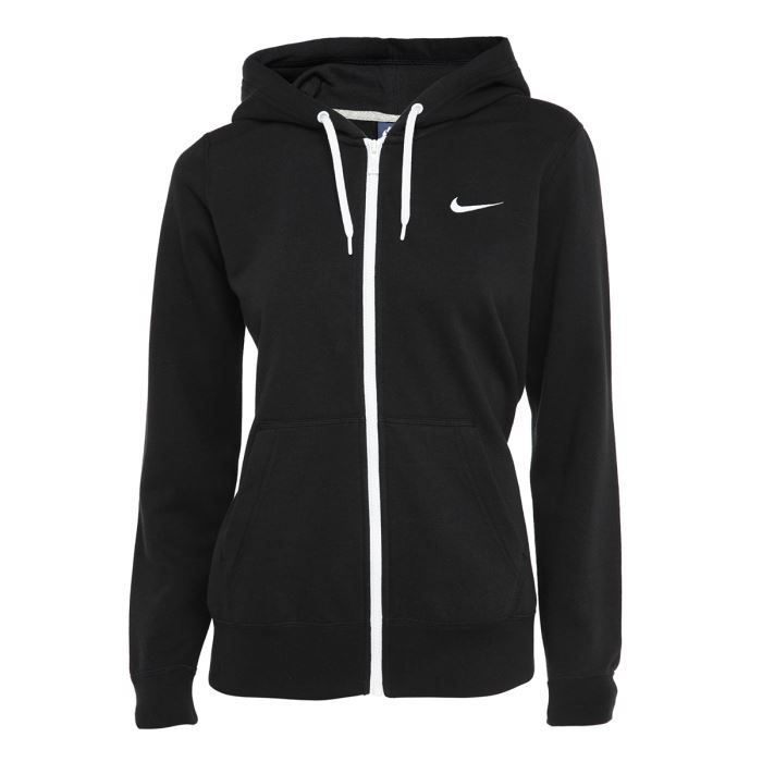 nike sweat zipp club femme noir achat vente sweatshirt cdiscount. Black Bedroom Furniture Sets. Home Design Ideas