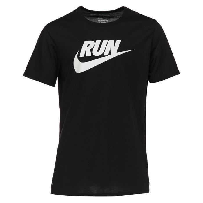 nike t shirt running run swoosh homme rng prix pas cher cdiscount. Black Bedroom Furniture Sets. Home Design Ideas