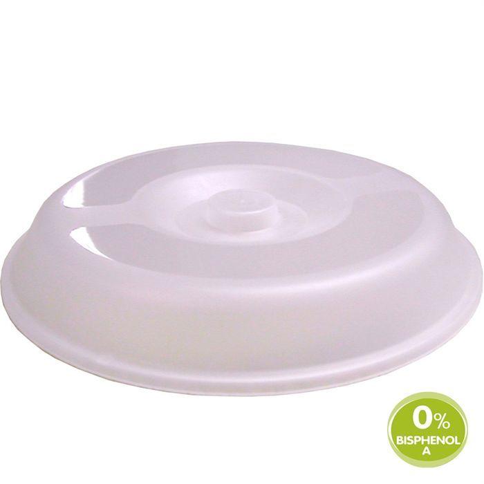 MILL'O BÉBÉ Couvre-assiette micro-ondable pour assiettes creuse ronde - Polypropylène - Translucide