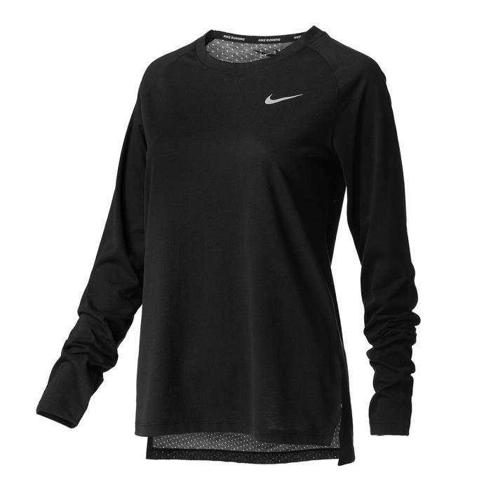 NIKE T-shirt de running Tailwind - Femme - Noir