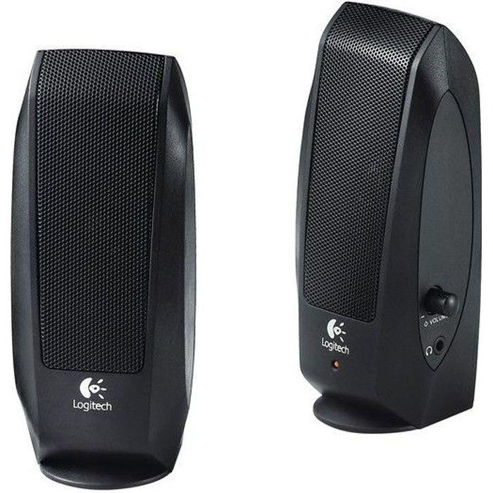 ENCEINTES ORDINATEUR Logitech S120 Haut-parleur stéréo 2.0 2.3W noir