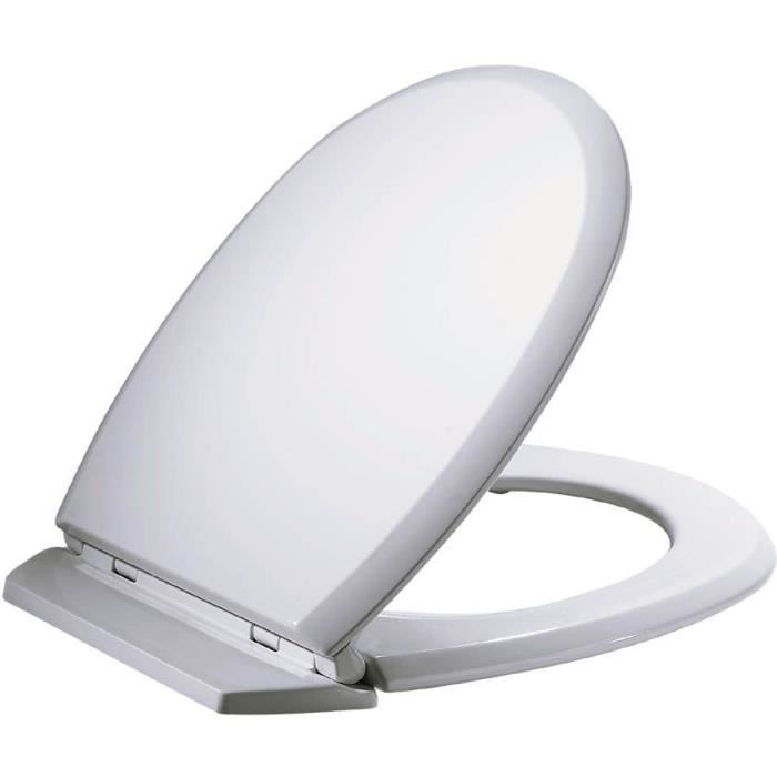 Abattant WC Atlas - bois compressé - blanc