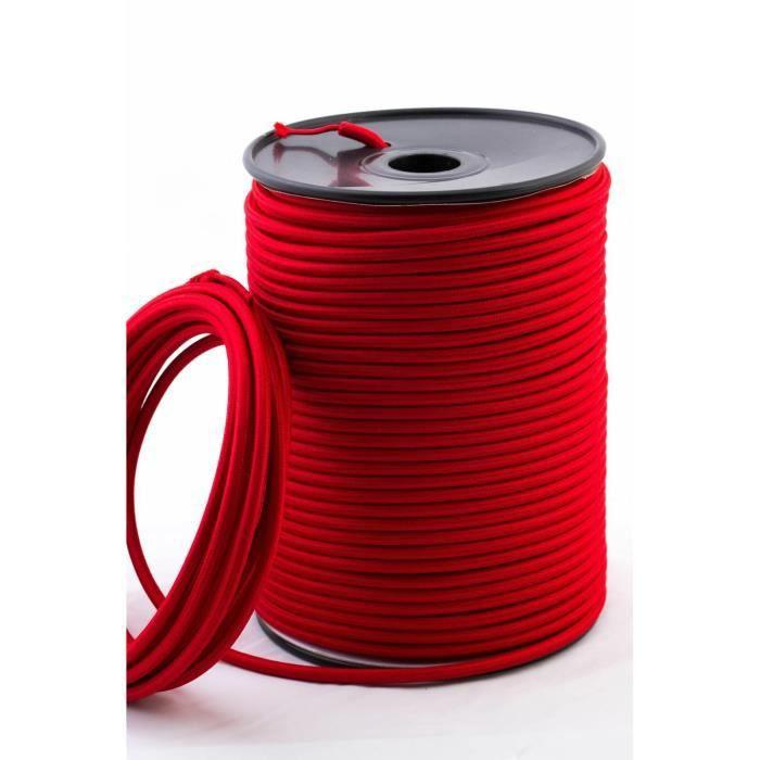 5M Fil électrique Tressé Tissu Câble Corde Pour Suspension Plafonnier Rouge