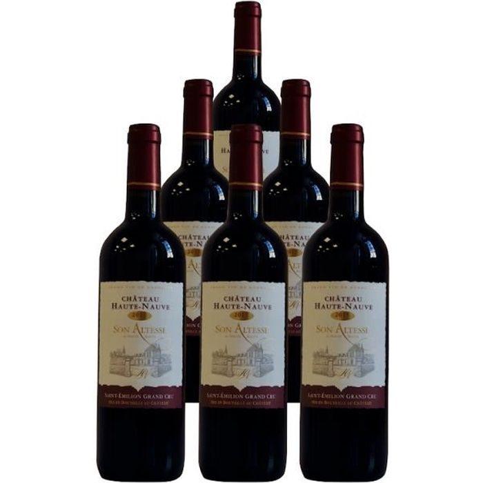 Château Haute-Nauve, Son Altesse, Saint Emilion Grand Cru 2015 - Pack de 6 bouteilles - Vin rouge de Saint Emilion