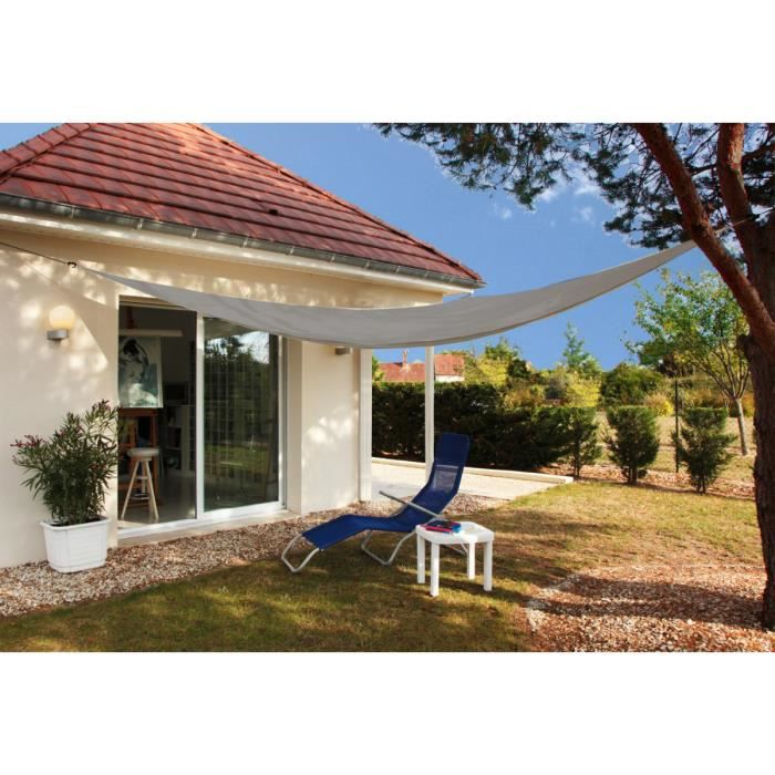 Toile d'ombrage triangulaire d'ombrage 3 mètres Gris foncé
