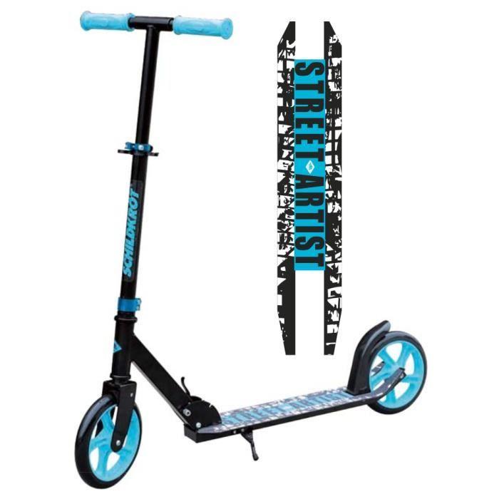 Schildkröt Trottinette City Scooter Street Artist, roues 200mm, trottinette de loisir en aluminium, pliable, idéale pour les enfants