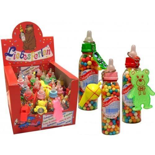 Perles bonbons, biberons avec des jouets, 25 pièce