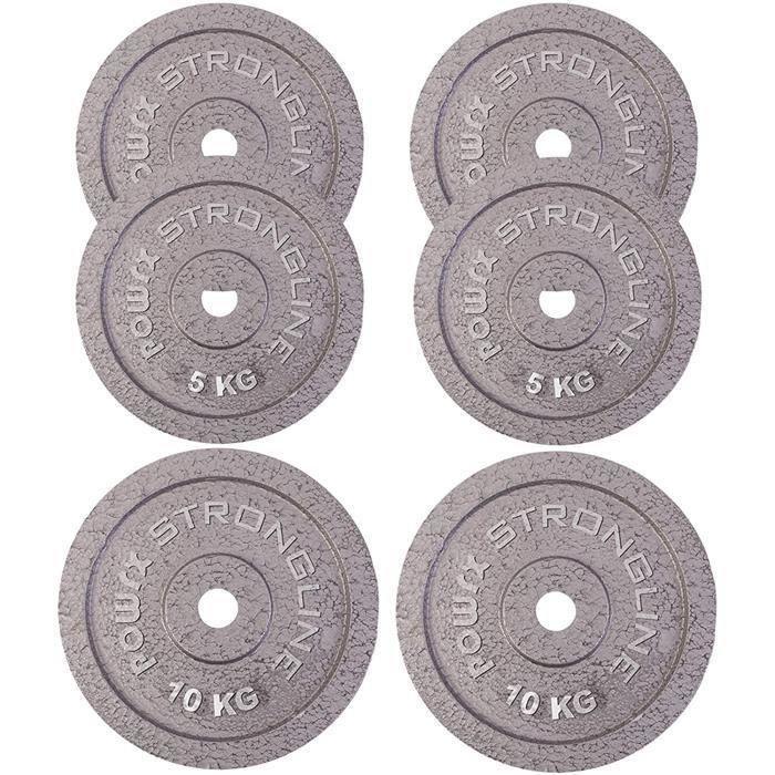 HALTERE Disque d'halt&egrave res Poids d'halt&egrave res en Fer de 2,5 kg &agrave 40 kg - 30 mm134