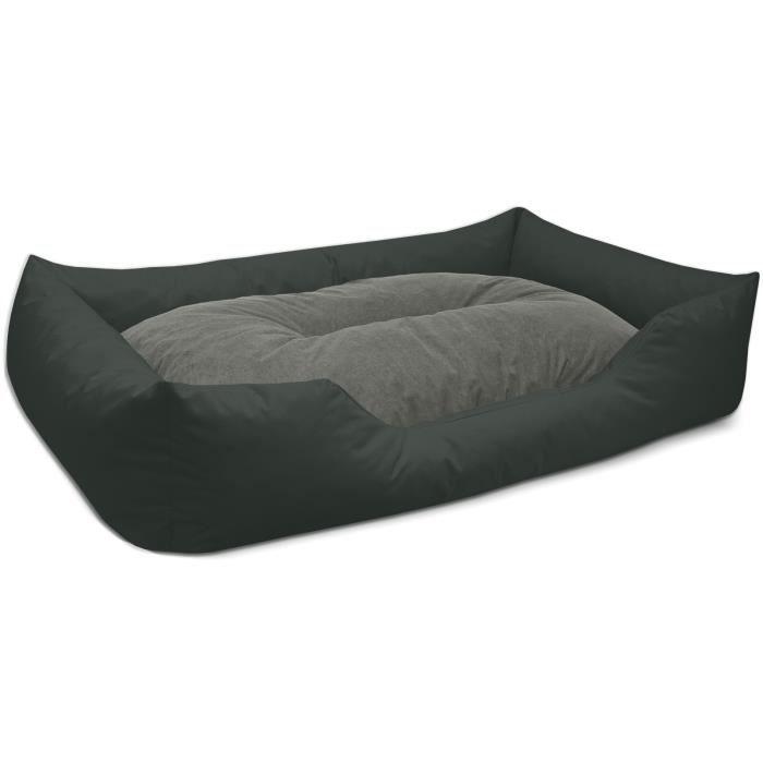 BedDog MIMI lit pour chien,coussin,panier pour chien [XXXL env. 150x110cm, ROCK-FLOW (gris/anthracite)]