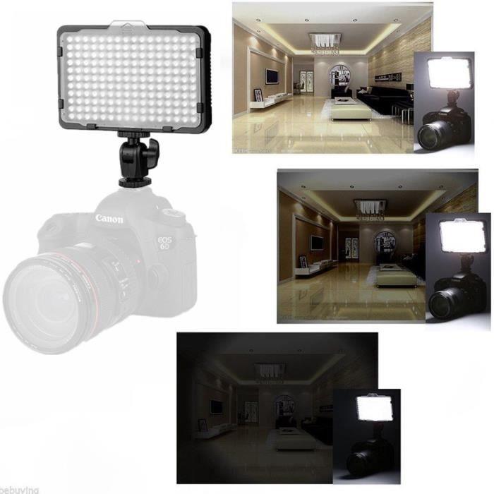 PT-176S Lampe de caméra LED pour Caméra Caméscope Canon - Nikon - Sony