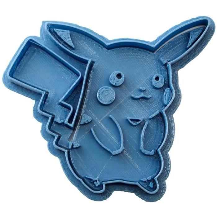 MOULE A GATEAUCuticuter Emportepiegravece pour Biscuits Motif Pokeacutemon Pikachu Bleu 8 x 7 x 15 cm1708