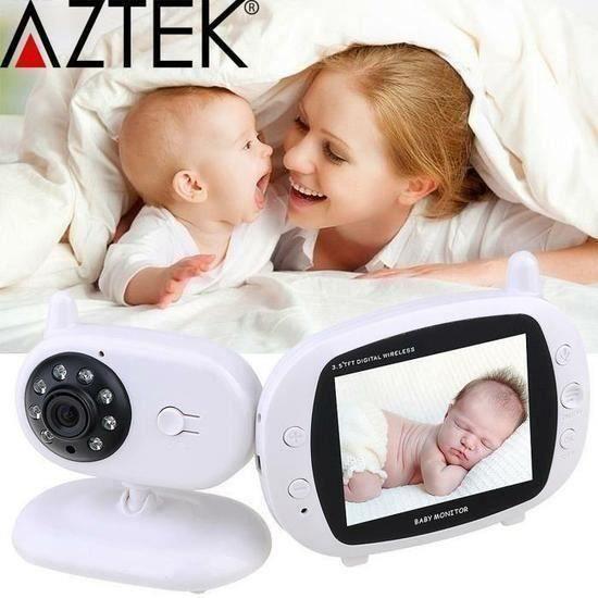 BABY Babyphone vidéo numérique camera-bébé Sans fil Multifonctions