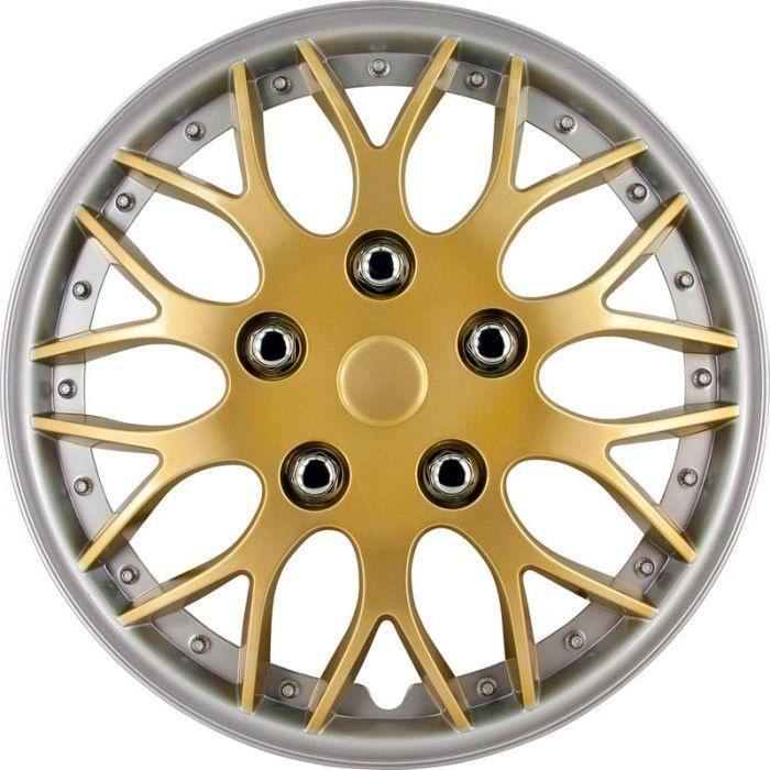 AutoStyle enjoliveurs Missouri 14 pouces ABS or / argent lot de 4