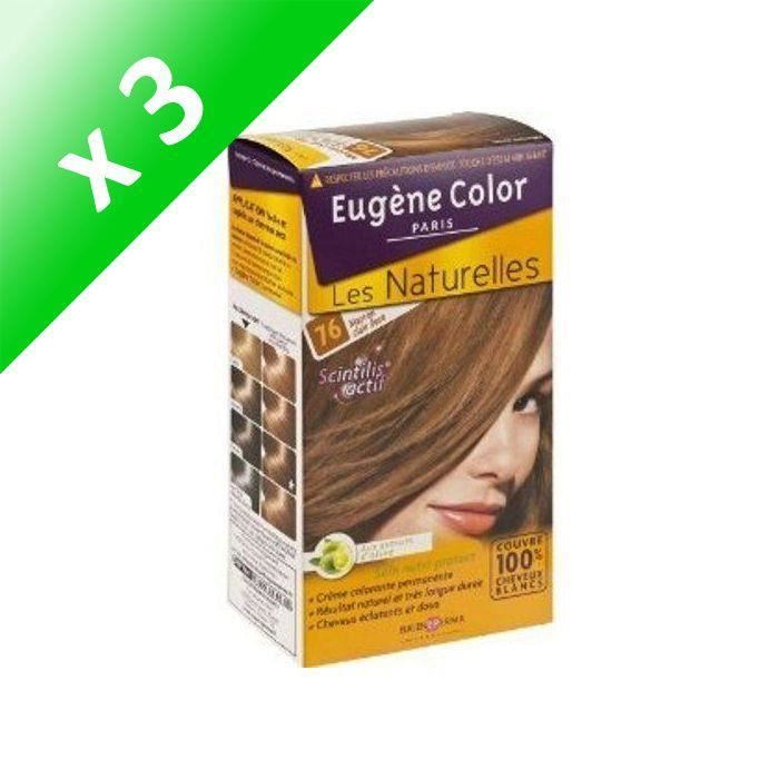 EUGENE COLOR Coloration N76 Marron Claire Doré (Lot de 3)