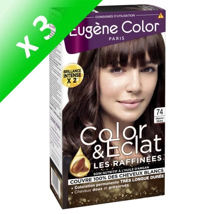 EUGENE COLOR Coloration raffinnée N74 - Moka (Lot de 3)