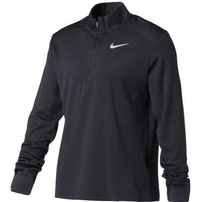 NIKE T-Shirt de running manches longues M NK PACER TOP HZ HOMME Noir