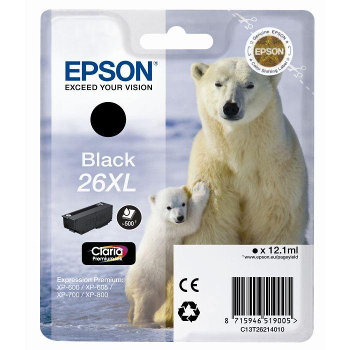 Epson T2621 Ours Polaire Xl Cartouche d'encre Noir x1