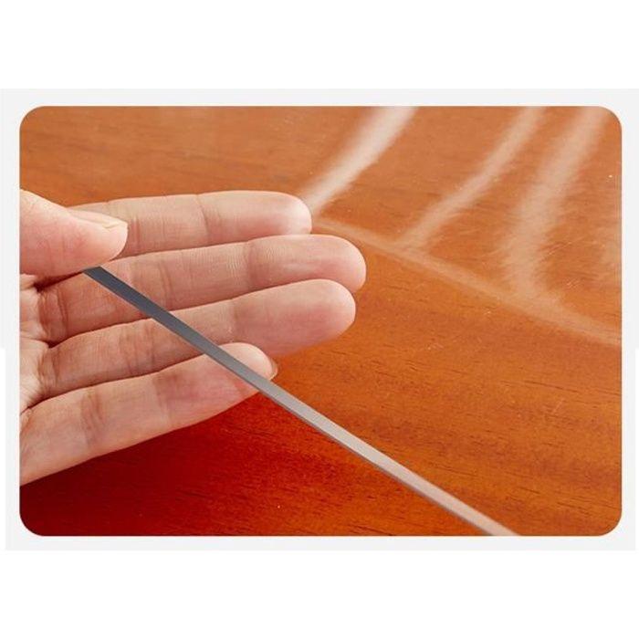 Nappe en verre en plastique souple en PVC transparent sans odeur Nappe imperméable et résistante à l'huile