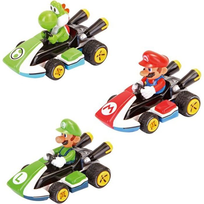 Pack 3 Voitures Pull And Speed Mario Kart 8