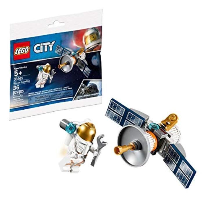 Jeu D'Assemblage LEGO B7T9H Ensemble de figurines PolyBag 3365 Astronaute avec satellite spatial 36 pièces