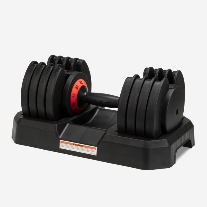 Haltère poids réglable charge variable fitness cross training 32 kg Oonda