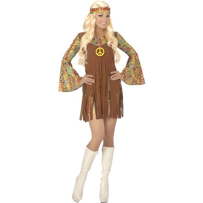 WIDMANN. Déguisement Hippie Paix femme. XL. Adulte
