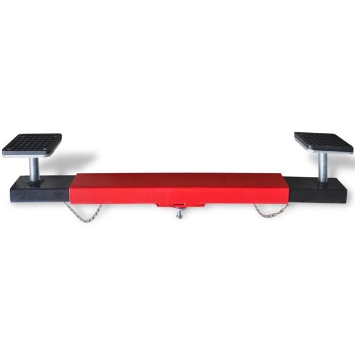 Croix adaptateur de traverse 2 tonnes Rouge