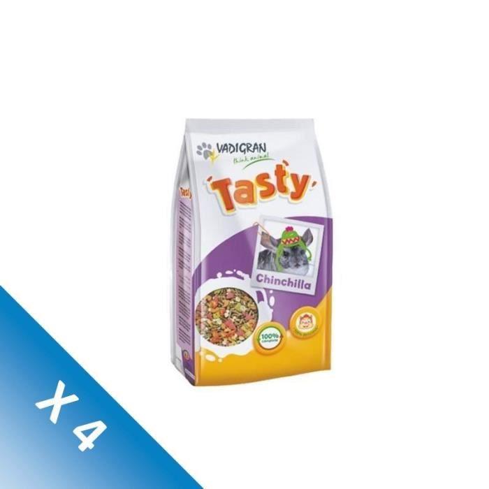 [LOT DE 4] VADIGRAN Nourriture Tasty chinchilla 900g