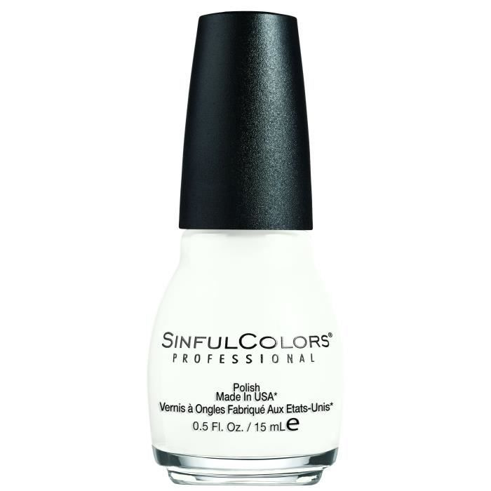 SINFUL Vernis à ongles n° 101 Snow Me White - 15 ml