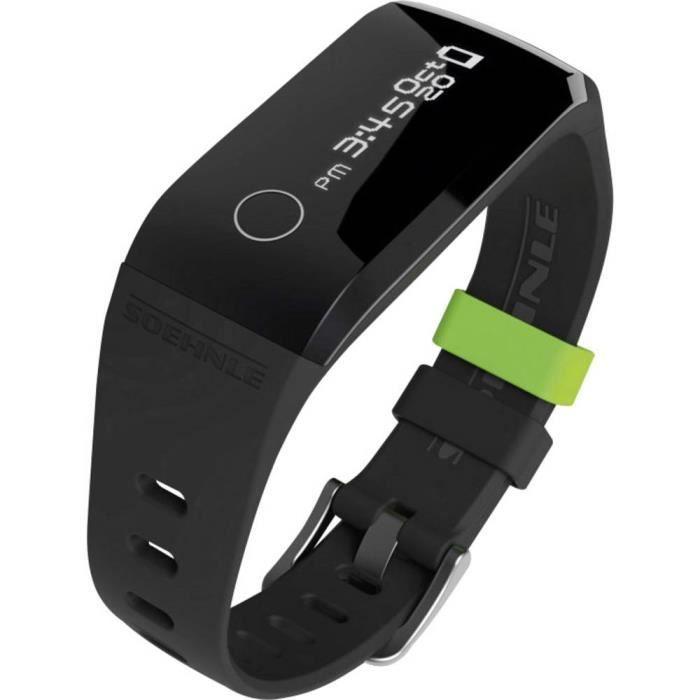 Bracelet connecté Soehnle Fit Connect 200 68101 TU noir, vert 1 pc(s)
